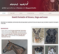 Anne Ward artist specialising in horse and dog portraits