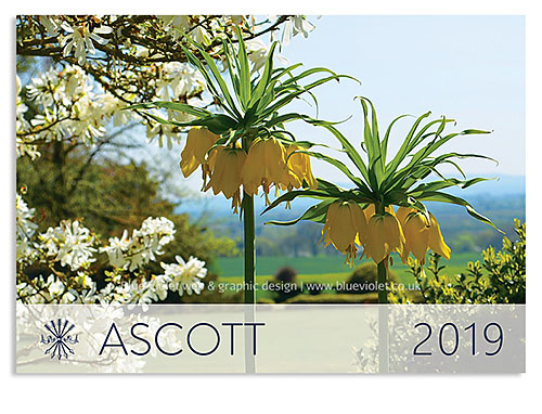 Ascott Estate desk calendar designed by Blue Violet