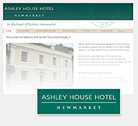 Ashley House Newmarket logo redraw and website design