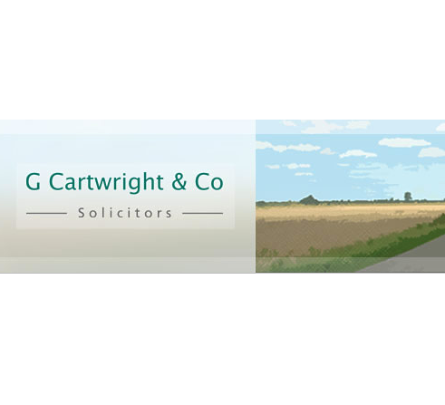 G Cartwright & Co, Solicitors logo, stationery and website