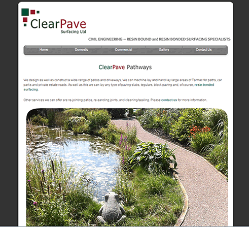 ClearPave logo redraw and website