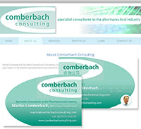 Comberbach Consulting logo, stationery and website