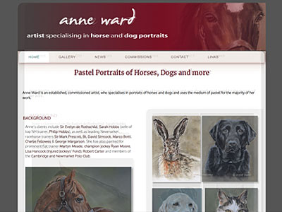 Anne Ward artist website and links to further websites created by Blue Violet