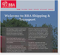 BBA Shipping & Transport website