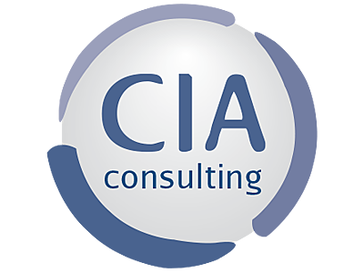 CIA Consulting logo and links to further designs created by Blue Violet