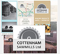 Cottenham Sawmills Ltd logo, stationery and website