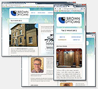 F G Brown Opticians website