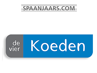 de vier Koeden and Spaanjaars logo and links to further designs created by Blue Violet