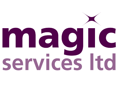 Magic Services Ltd logo and links to further designs created by Blue Violet
