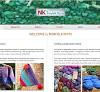 Norfolk Knits logo, stationery & website