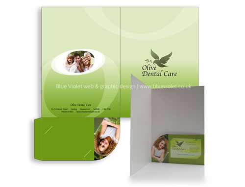 Olive Dental Care stationery designed by Blue Violet
