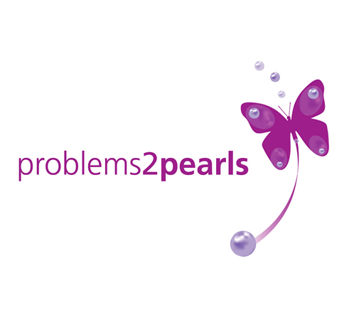 Problems 2 Pearls logo, stationery and website