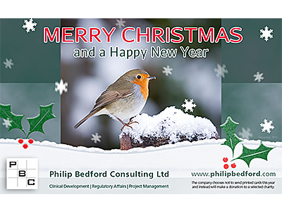 Philip Bedford Consulting seasonal greetings e-card design and links to further designs created by Blue Violet