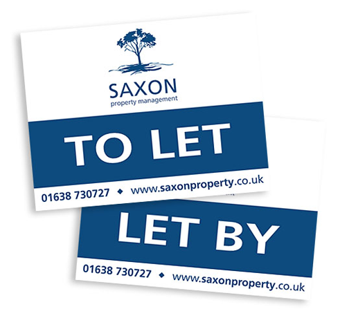 Saxon Property Management letting boards
