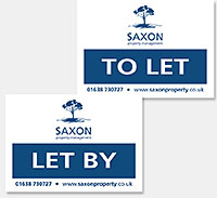 Saxon Property Management logo, stationery and website