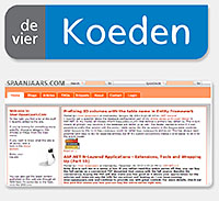 Imar Spaanjaars and de vier Koeden logo design and artwork